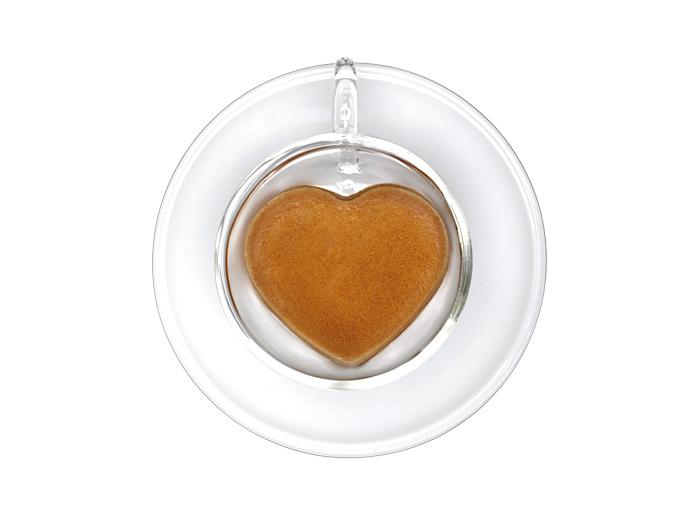 Set of 2 Heart Shape Cups